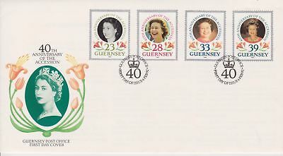 £1.75 • Buy Unaddressed Guernsey FDC Cover 1992 40TH Anniversary Accession