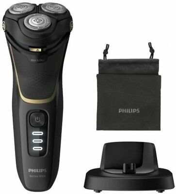 View Details Philips Shaver Electric S3333/54 Series 3000 Black/Golden 60min Alone • 228.43£