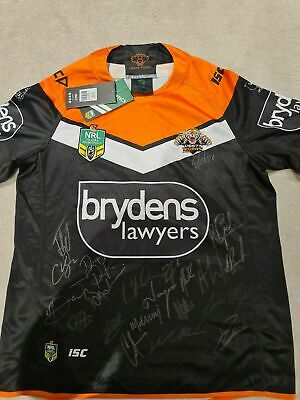 AU196.99 • Buy SIGNED 2018 Wests Tigers NRL Rugby League Jersey  NEW