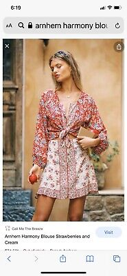 AU50 • Buy Arnhem Harmony Blouse In Strawberries And Cream Size 10 New Without Tags
