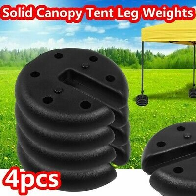 AU62.16 • Buy 4pcs Outdoor Canopy Tent Leg Weights Anchor Stand Heavy Duty Gazebo Discs Base