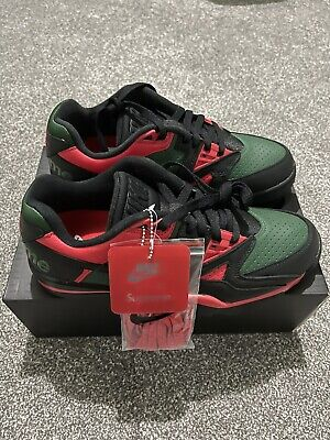 £135 • Buy Supreme X Nike Cross Trainer Low Black/Green/Red Exclusive UK Size 9.5
