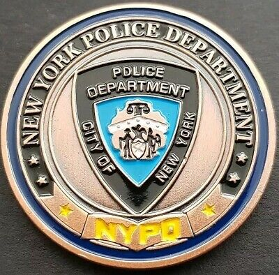 £4.99 • Buy NYPD NEW YORK POLICE DEPARTMENT  Challenge Coin FREE COIN STAND AND BRAND NEW