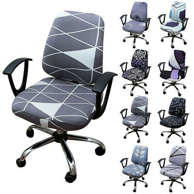 AU18.85 • Buy Split Computer Office Chair Cover Rotating Seat Slipcover Seat Protector Printed