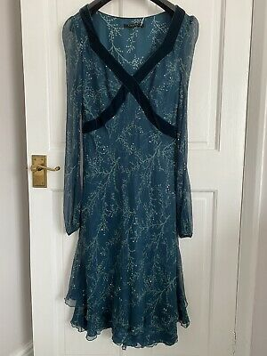 £14.99 • Buy Nougat London Silk Green Dress Sequin Layers Frills Size 3 Party Occasion