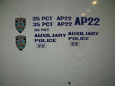 £9.85 • Buy Big City New York Auxiliary Police Car Decals 1:24 Old School