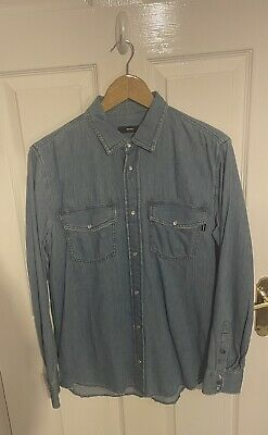 £20 • Buy Slightly Distressed Diesel Shirt W/ Pearl Buttons , Size: Medium, Barely Worn.