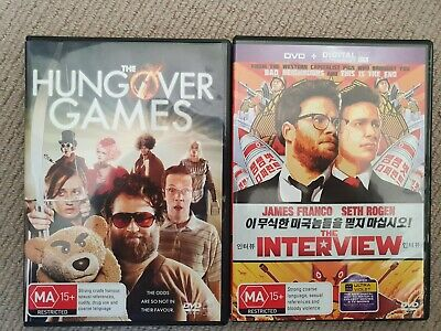 AU0.99 • Buy The Interview + The Hungover Games (DVD) Seth Rogen James Franco