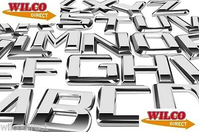 £2.69 • Buy ONE Car Styling Chrome Badges All Letters And Numbers Available Designer Decals