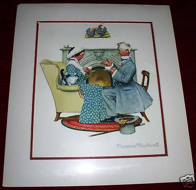 $ CDN266.61 • Buy Norman Rockwell Print Plate Signed Ltd Ed Lith 810/1200