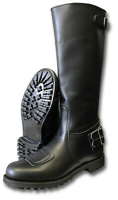 1 New Pair Classic Gth Police Motorcycle Trophy Boots Back Zip [04072] • 250£