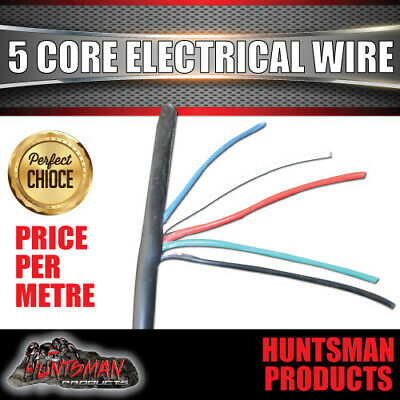 AU1.50 • Buy 5 Core Electrical Wire Per Metre . Od 7.2mm, 38/0.15 Trailer/ Caravan