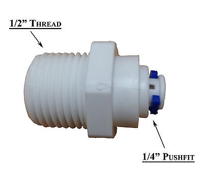 £2.15 • Buy Water Filter Housing Fitting 1/2  Reducer To 1/4  Pipe