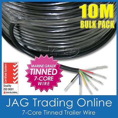 AU41.17 • Buy 10M X 7-CORE MARINE GRADE TINNED TRAILER WIRE-AUTO/BOAT/CARAVAN ELECTRICAL CABLE