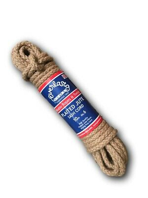 Quality 'everlasto' Plaited Jute Sash Cord/rope/pulley Line/clothes Line 6mm/7mm • 23.20£