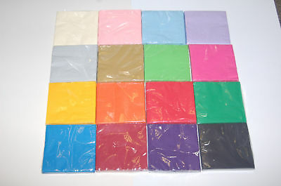 £1.69 • Buy 20 X Paper Napkins Coloured 2 Ply 16 Colours Birthday