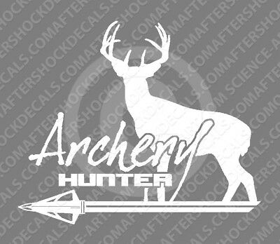 $4.99 • Buy Whitetail Deer Sticker Archery Hunting Bow Arrow Decal For Hoyt Bowtech PSE Bear