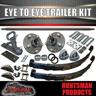AU290 • Buy DIY Eye To Eye Single Axle Trailer Suspension Kit 1000Kg Rated 60 -79  Axles