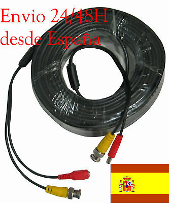 AU24.78 • Buy Cable Bnc VÍdeo + AlimentaciÓn 30 Metros Dvr Cctv