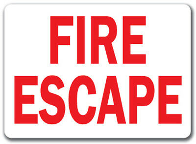 Fire Escape Sign (red Text On White Background) - 10  X 14  OSHA Safety Sign • 6.43£