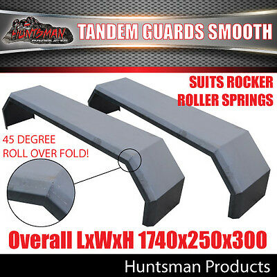 AU160 • Buy Pair Tandem Axle Smooth Trailer Caravan Mudguards 250mm. Suits R/roller Springs
