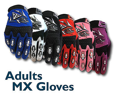 AU9.99 • Buy MX Motocross Adult Gloves THIN - BMX/ATV/Dirt/Quad Bike/Trail/DH/MTB NEW