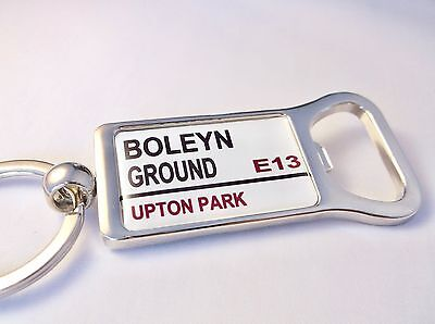West Ham Stadium Badge Street Sign Bottle Opener Keyring Gift • 4.99£