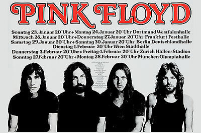 $12 • Buy Pink Floyd At  West Germany Concert Tour Poster 1977