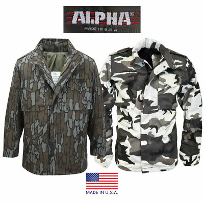AU90.51 • Buy M65 Jacket Alpha Industries US Army Military Combat Field Camo USA Hunting Coat