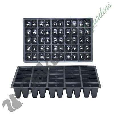 10 X 50 Cell Seed Tray Inserts Full Size Plug Trays Bedding Plant Pack  • 8.75£