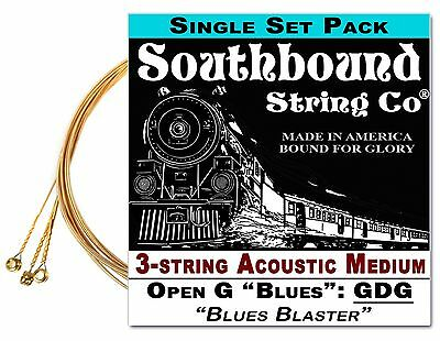 $ CDN6.73 • Buy Cigar Box Guitar String Set: 3-string Acoustic Medium Low Open G GDG