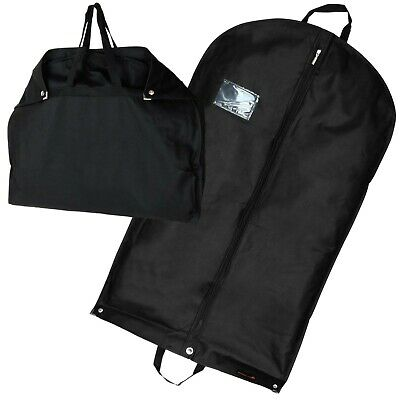 £7.95 • Buy Hangerworld™ 40 In Black Breathable Suit Carry Cover Garment Clothes Travel Bag
