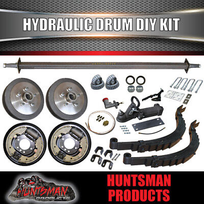 AU670 • Buy DIY Trailer Kit 1400Kg Rated. Hydraulic Drum Braked. Slipper Springs. 45mm Axle