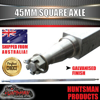 AU145 • Buy GALVANISED TRAILER AXLE 45MM SQUARE, 65 .  1650MM. 1400Kg RATED. BOAT TRAILER