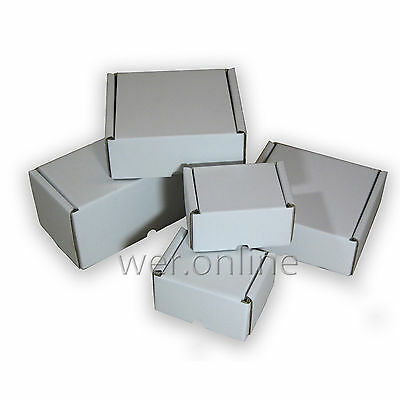 White Postal Cardboard Boxes *multi Listing* Small Mailing Shipping Cartons • 13.44£