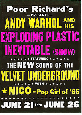 £3.99 • Buy VELVET UNDERGROUND  POSTER. A3 Repro. Lou Reed, Nico, Andy Warhol. SPECIAL PRICE