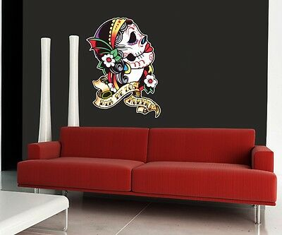 Wall Art Sticker  0142 Full Colour - Day Of The Dead, Psycobilly • 17.95£