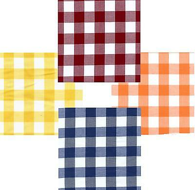 Gingham Poly Cotton Check Table Cloth Cover - Various Colours  • 7.95£