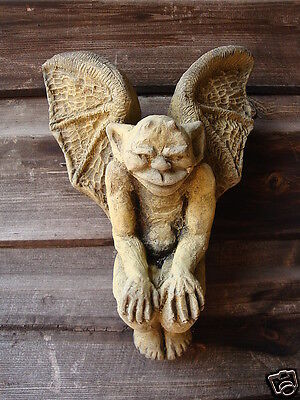 Winged Goblin Wall Plaque Gothic Decorative Home Or Garden Ornament 20cm/8  H • 11.99£