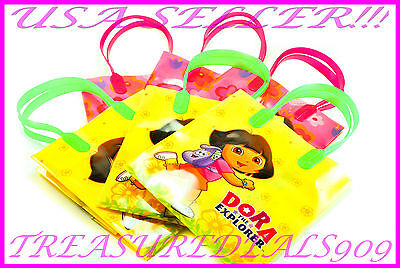 12 Pc Dora The Explorer Goodie Bags Party Favors Candy Loot Treat Birthday Bag  • 9.32£