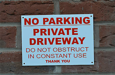 £1.99 • Buy NO PARKING PRIVATE DRIVEWAY DO NOT OBSTRUCT CONSTANT USE A5 Sign Or Sticker