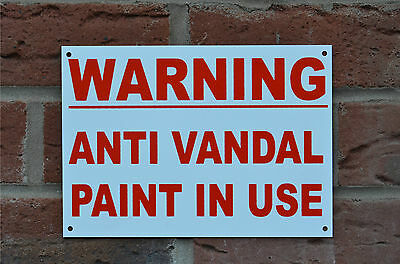 Warning Anti Vandal Paint In Use Property Security Safety Sign Sticker Holed A5  • 1.29£