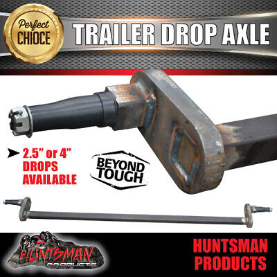 AU375 • Buy Trailer Drop Axle 40mm Square Solid.  2.5  Or 4  Drop Available. 1000Kg Rated
