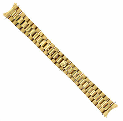 $ CDN65.27 • Buy President Watch Band Solid Bracelet For 34mm Rolex Date Watch 19mm Gold Gp