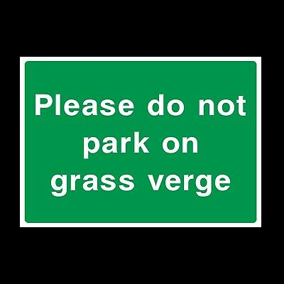 No Parking On The Grass Verge Rigid Plastic Sign OR Sticker - All Sizes  (CA42) • 0.99£