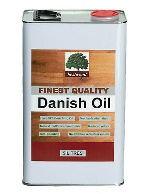Danish Oil, Bestwood, 5 Litres, FINEST QUALITY, BUY DIRECT, Express Delivery  • 39.95£