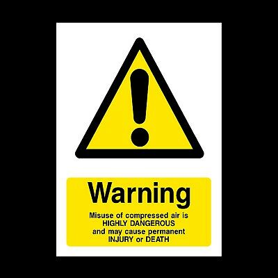 Compressed Air Plastic Sign OR Sticker - A6 A5 A4 (WCD59) • 1.49£