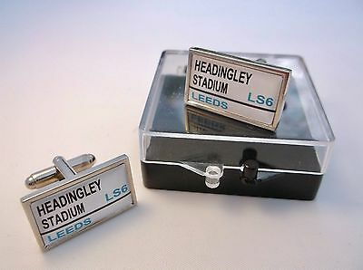 Leeds Rhinos Street Sign Mens Cufflinks Gift • 10.99£
