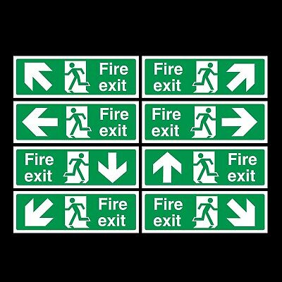 Fire Exit Plastic Sign Or Sticker - Emergency Exit, Escape • 0.99£