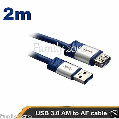 AU9.99 • Buy USB 3.0 Extension Cable 2m Super Speed Extension Cable A Male To A Female USB 3